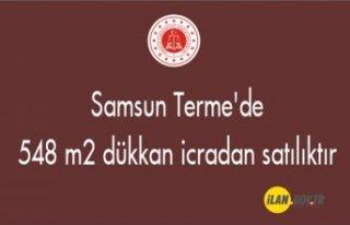 Samsun Terme'de 548 m² dükkan icradan satılıktır