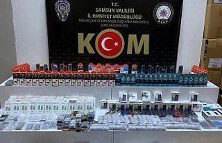 Samsun'da 1997 faturasız cep telefonu aksesuarı...