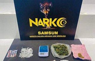 Samsun'da yakalanan uyuşturucu şüphelisi tutuklandı