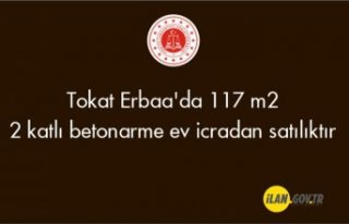 Tokat Erbaa'da 117 m² 2 katlı betonarme ev...
