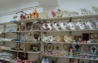 Tokat'ta hanımelleri satış marketi kadınların...