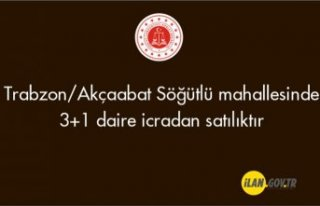Trabzon/Akçaabat Söğütlü mahallesinde 3+1 daire...
