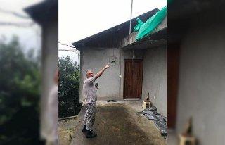 Trabzon'da fındık kurutmaya çalışırken evinin...