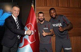 Trabzonspor'da Siopis ve Denswill için imza töreni...