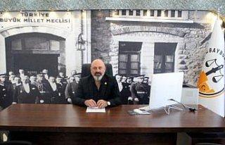 Yeni kurulan Bayburt Barosu Başkanlığına Serkan...