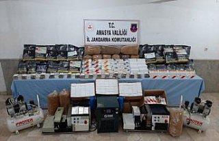 Amasya'da tütün kaçakçılığı operasyonunda...