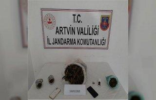 Artvin'de uyuşturucu operasyonunda 2 kişi gözaltına...