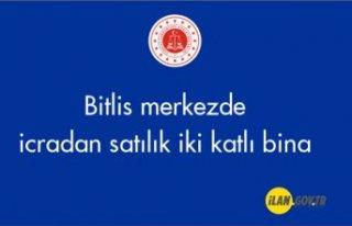Bitlis merkezde icradan satılık iki katlı bina