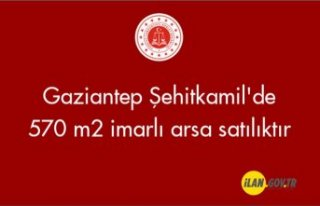 Gaziantep Şehitkamil'de 570 m² imarlı arsa...