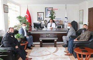 Havza'da oda başkanlarından Kaymakam Nayman'a ziyaret