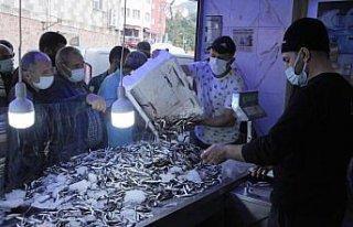 Hopa'da kilogramı 5 liradan satılan hamsi, balıkçı...