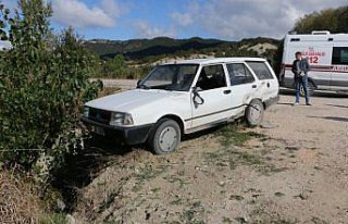 Mudurnu'da otomobillerin çarpışması sonucu 1 kişi...