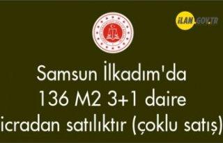 Samsun İlkadım'da 136 m² 3+1 daire icradan...