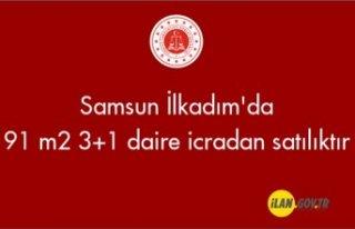 Samsun İlkadım'da 91 m² 3+1 daire icradan...