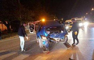 Samsun'da iki otomobilin çarpıştığı kazada...