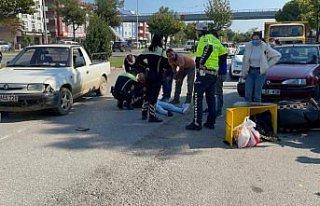 Samsun'da kamyonete çarpan motosikletin sürücüsü...