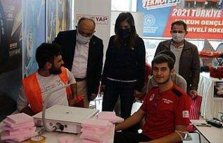 Samsun'da TEKNOFEST 2022 için tanıtım çalışması...