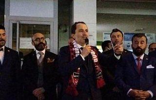 Yeniden Refah Partisi Genel Başkanı Erbakan, Samsun'da...