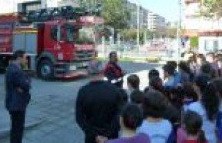 Bafra Gençlik Merkezinde Yangın Tatbikatı Yapıldı