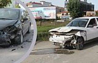 Bafra İlçesinde Trafik Kazası; 1 Yaralı