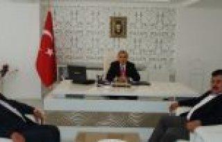Bafra Kaymakamı Arslan'a 'Hayırlı Olsun' Ziyareti