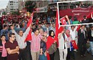 Bafra'da Şehitlere Saygı Teröre Lanet Yürüyüşü...