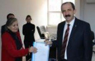 Başkan Muharrem Göksel mazbatasını aldı