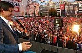Davutoğlu İlk Mitingini Samsun'da Yaptı