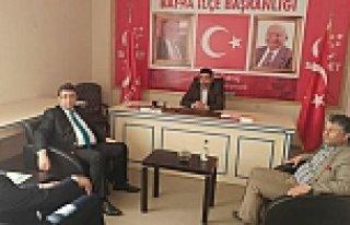 KAYMAKAM ALİ FUAT TÜRKEL'DEN BAFRA SAADET PARTİSİ...