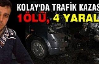 Kolay Yolunda Trafik Kazası; 1 Ölü, 4 Yaralı