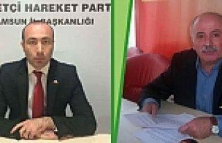 MHP İlkadım İlçe Başkanı Korkmaz ve Yönetim...