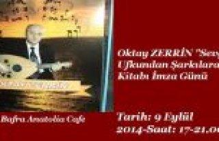 OKTAY ZERRİN'İN ŞİİR KİTABI İMZA GÜNÜ 9 EYLÜL'DE