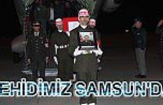 ŞEHİT ATEŞİ SAMSUN'UN VEZİRKÖPRÜ İLÇESİNE...