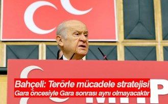 Bahçeli: Terörle mücadele stratejisi Gara öncesiyle Gara sonrası aynı olmayacaktır
