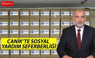 CANİK'TE SOSYAL YARDIM SEFERBERLİĞİ
