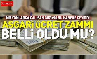 2020 Asgari ücrete yapılacak zam belli oldu!