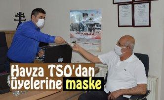 Havza TSO'dan üyelerine maske desteği