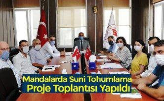 Mandalarda Suni Tohumlama Proje Toplantısı Yapıldı