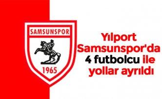 YılportSamsunspor'da 4 futbolcu ile yollar ayrıldı