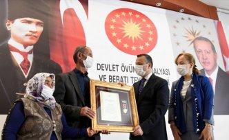 Gümüşhane'de Devlet Övünç Madalyası ve Beratı Tevcih Töreni