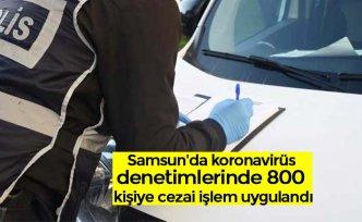 Samsun'da koronavirüs denetimlerinde 800 kişiye cezai işlem uygulandı