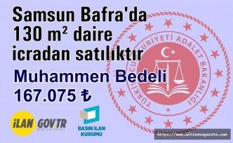 Samsun Bafra'da 130 m² daire icradan satılıktır
