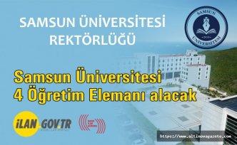 Samsun Üniversitesi 4 Öğretim Elemanı alacak