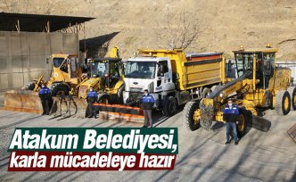 Atakum Belediyesi, karla mücadeleye hazır