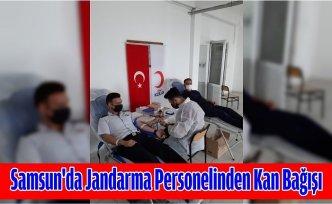 Samsun'da jandarma personelinden kan bağışı