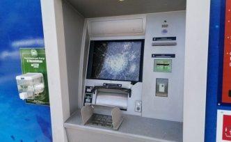Samsun'da banka şubesinin camı ile ATM'lere zarar veren kişi yakalandı