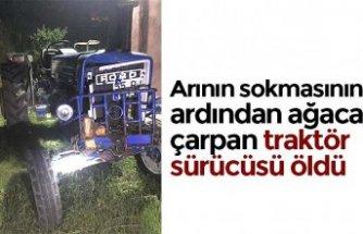 Arının sokmasının ardından ağaca çarpan traktör sürücüsü öldü