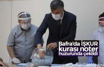 Bafra'da İŞKUR kurası noter huzurunda çekildi