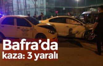 Bafra'da kaza: 3 yaralı