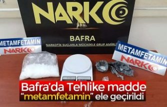 "Bafra'da Tehlike madde ""metamfetamin"" ele geçirildi"